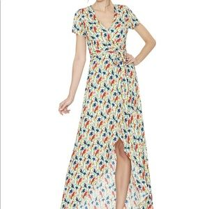 Alice + Olivia Dresses - Alice + Olivia Adrianna Bird Mock- Wrap Dress